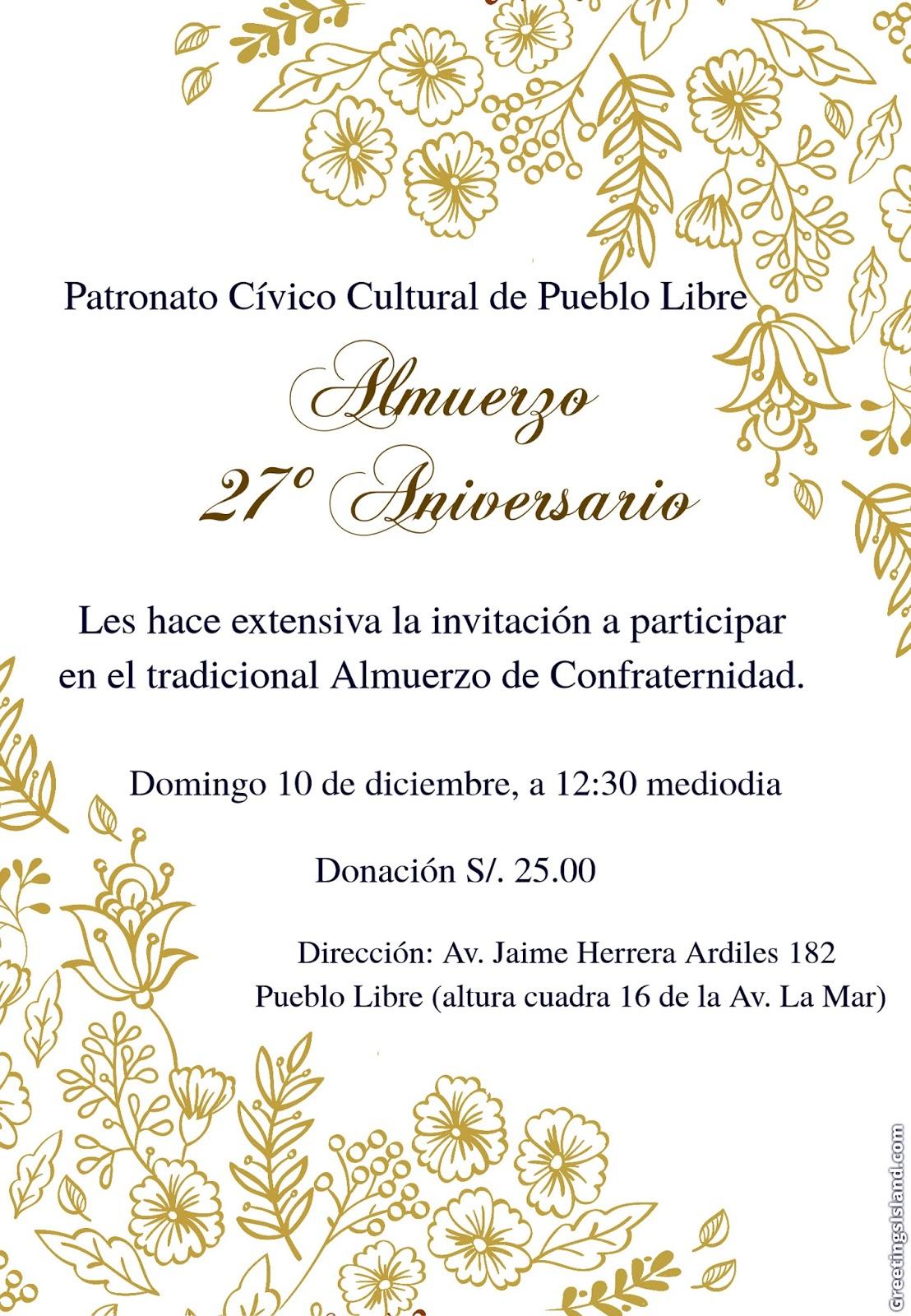 Patronato Cívico Cultural De Pueblo Libre Paccpul 11 29 17