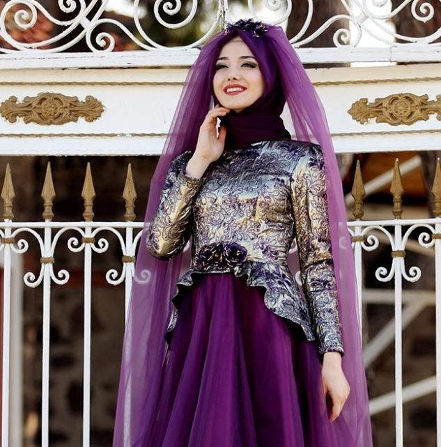 1919a2b64eeb1 Bu yılın moda tesettür ürünlerinden biri de Şehrazat Abiye elbise modeli  oldu. Yıldızı her geçen gün parlayan tesettür moda markası Gamze Polat, ...