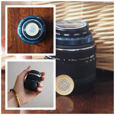 Mały obiektyw do aparatu.