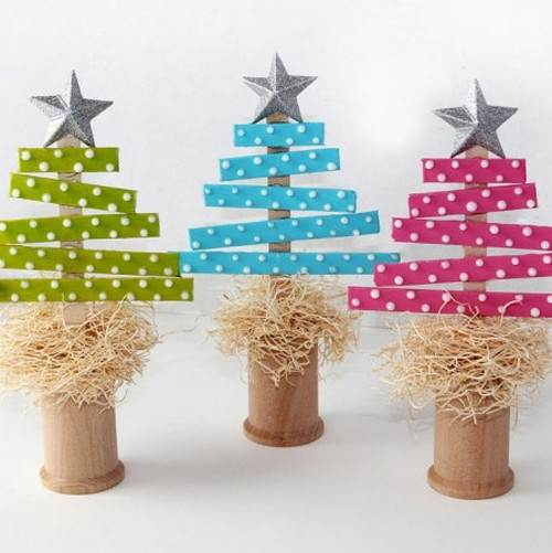Ideas para manualidades árboles de Navidad