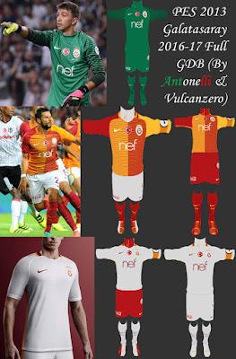 PES 2013 Galatasaray SK 2016-17 Full GDB (BY ANTONELLI & VULCANZERO)