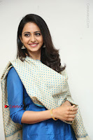 Actress Rakul Preet Singh Stills in Blue Salwar Kameez at Rarandi Veduka Chudam Press Meet  0098.JPG