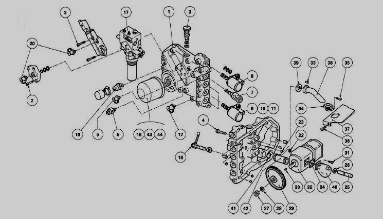 White Tractor Hydraulic System Diagram, White, Free Engine