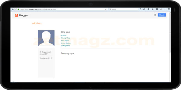 Cara Melihat Profil Admin Blogger Yang Disembunyikan Dari Blog