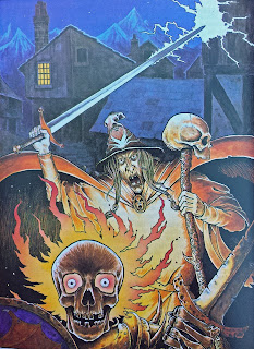 Gary Chalk's painting of Terror of the Lichemaster 1987