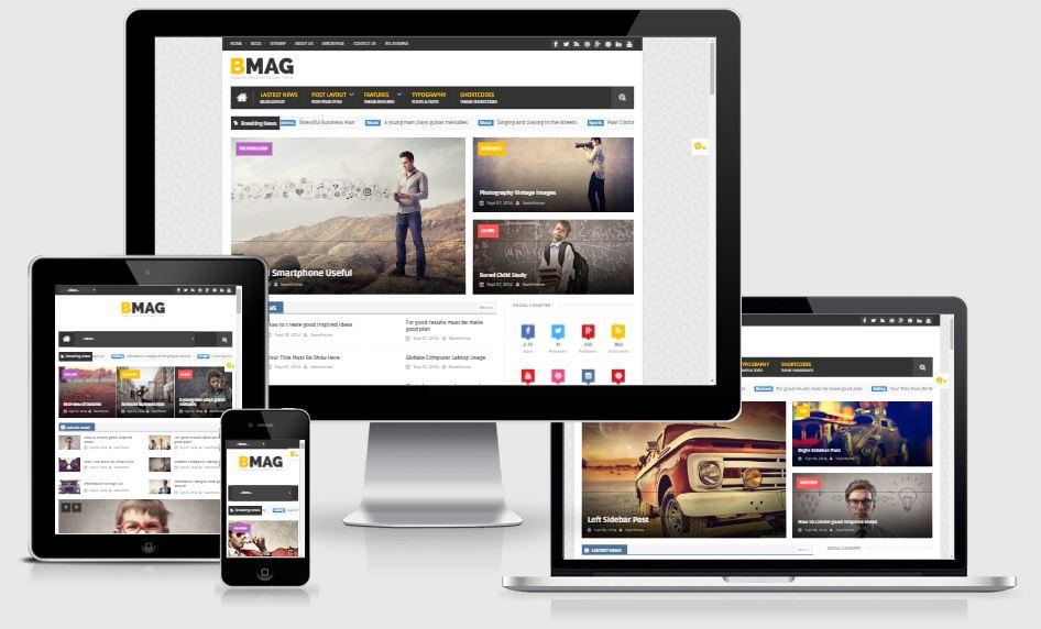 Template BMAG V2.1.1 - Magazine Responsive Blogger