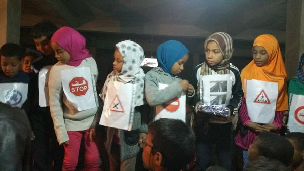 """تازارين: جمعية """"تيغرمت"""" تنظم حملة تحسيسية في السلامة الطرقية لفائدة الأطفال"""