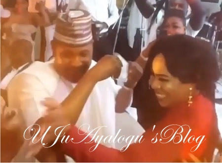 Sweet Reunion: Watch Video, The Moment Nollywood Star, Saidi Balogun Steps Out With Ex-Wife, Fathia At Mercy Aigbe's 40th Birthday, Sprays Her Money