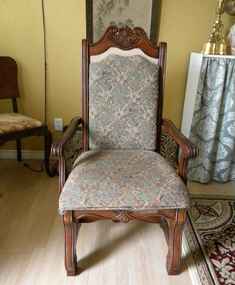 Funky Dining Room Chairs: Ms Bingles Vintage Christmas: Redoing Dining Room Chairs