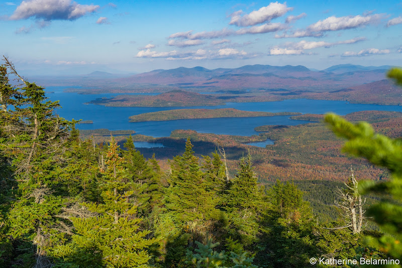 Moosehead Lake from Big Moose Mountain Maine Hiking Moosehead Pinnacle Pursuit