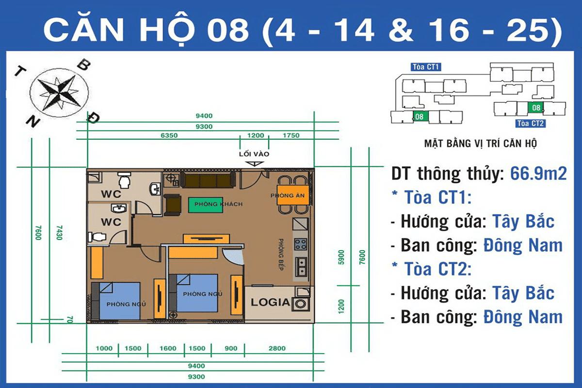 Căn 08 dự án Ban Cơ Yếu Chính Phủ Lê Văn Lương