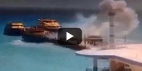 Εικόνες που σοκάρουν: Η στιγμή της έκρηξης σε φέρι μποτ γεμάτο με τουρίστες [βίντεο]