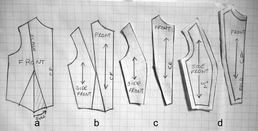 how to cut a princess dart dress