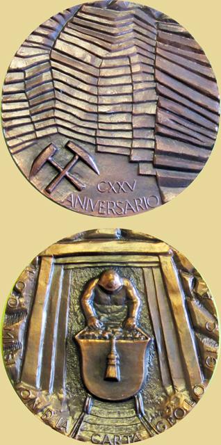 Medalla del 125 Aniversario de la Comisión de la Carta Geológica minera, 1974