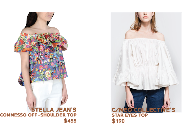 Stella Jeans C/meo Collective off the shoulder top cuba trend