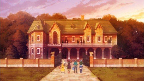 Rumah orang tajir di anime Konosuba