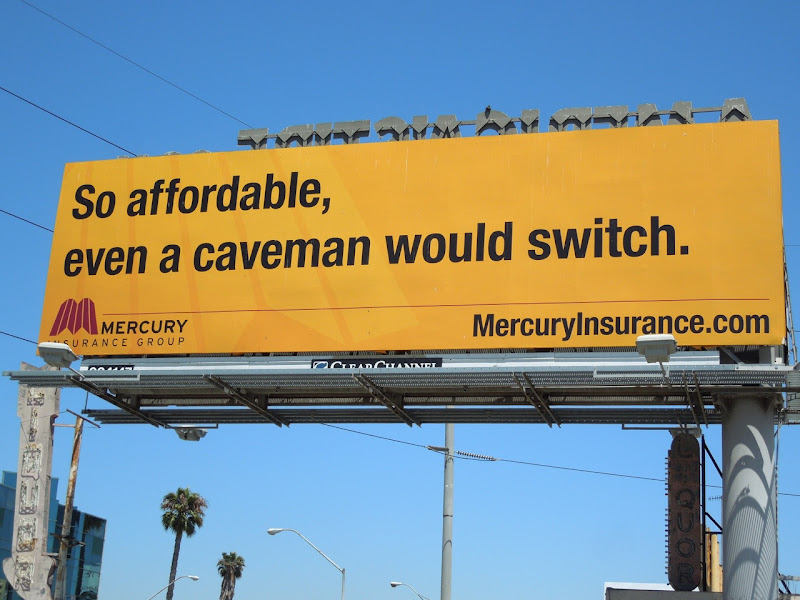 mercury caveman billboard