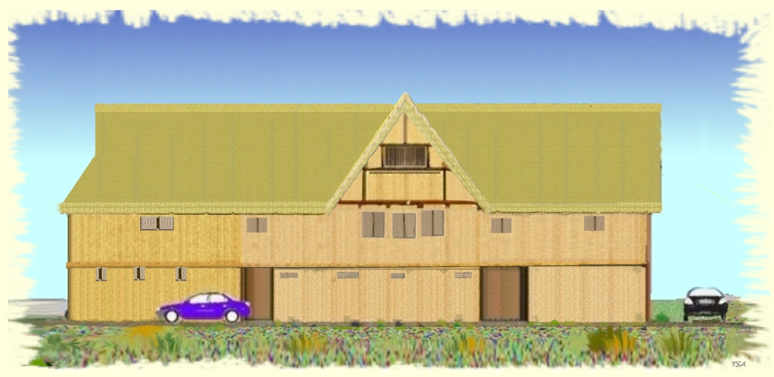 This First Image Is My Minimal View Of A Two Frame Building With Floor And Attic Space It Features Half Hip Roof At The NW End Central