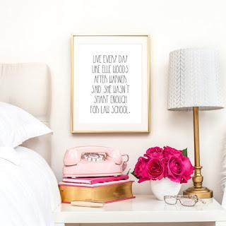 Live Every Day Like Elle Woods print | brazenandbrunette.com