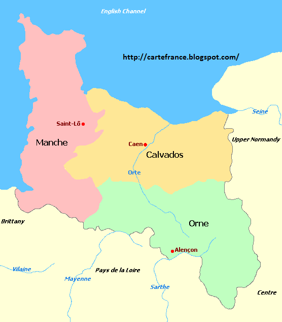 Carte Normandie Departement.Carte Basse Normandie Departement Carte France Departement