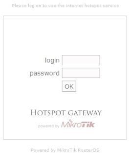 default login page mikrotik