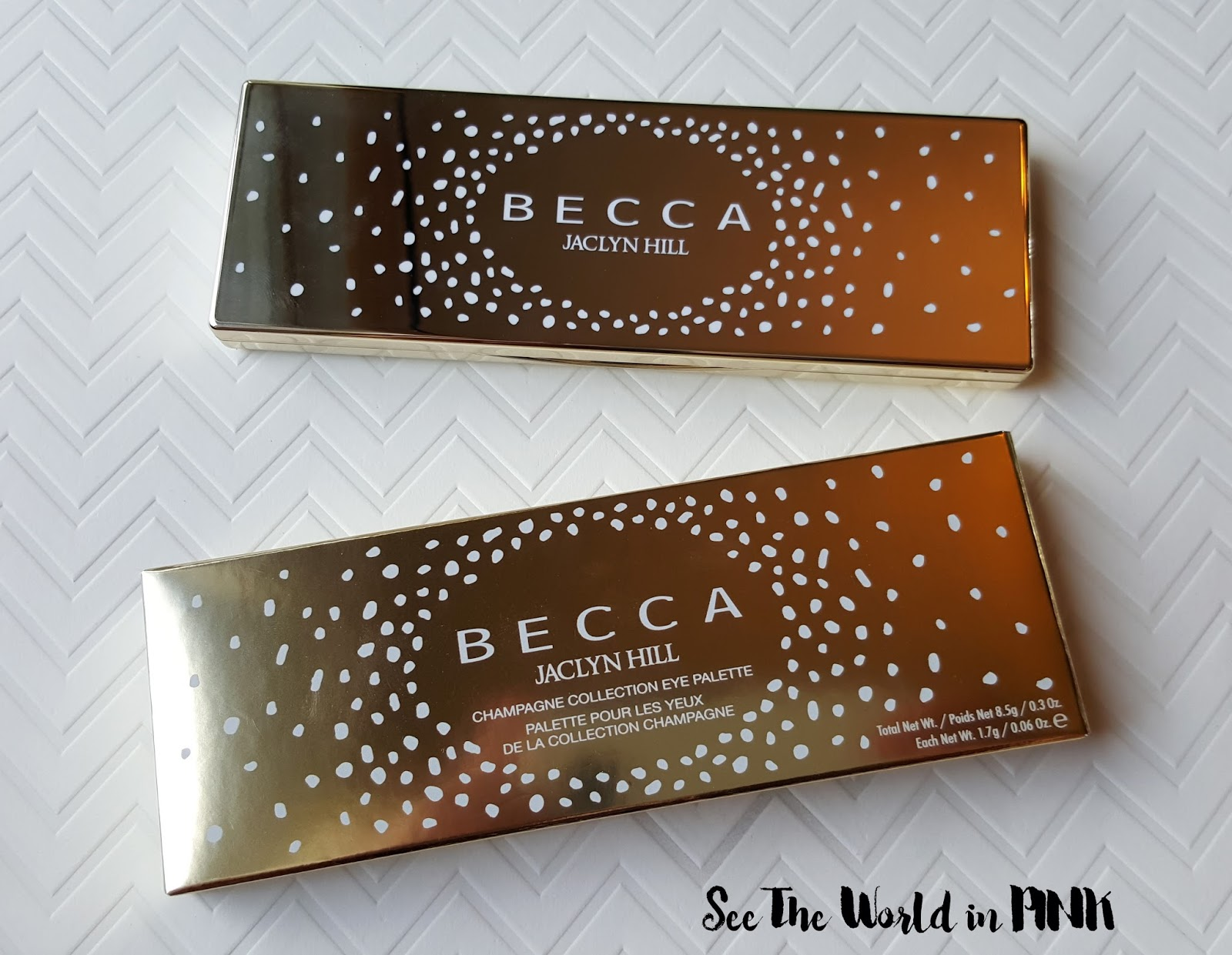 becca x jaclyn champagne glow collection eyeshadow palette review