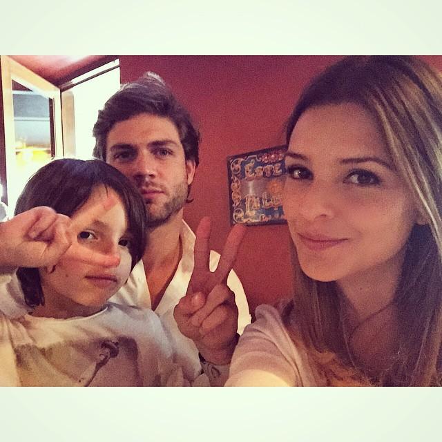 Santino junto con Horacio Pancheri la actual pareja de Grettell