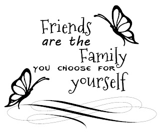 Any Old Craft: Friends are family word art digi stamp freebie