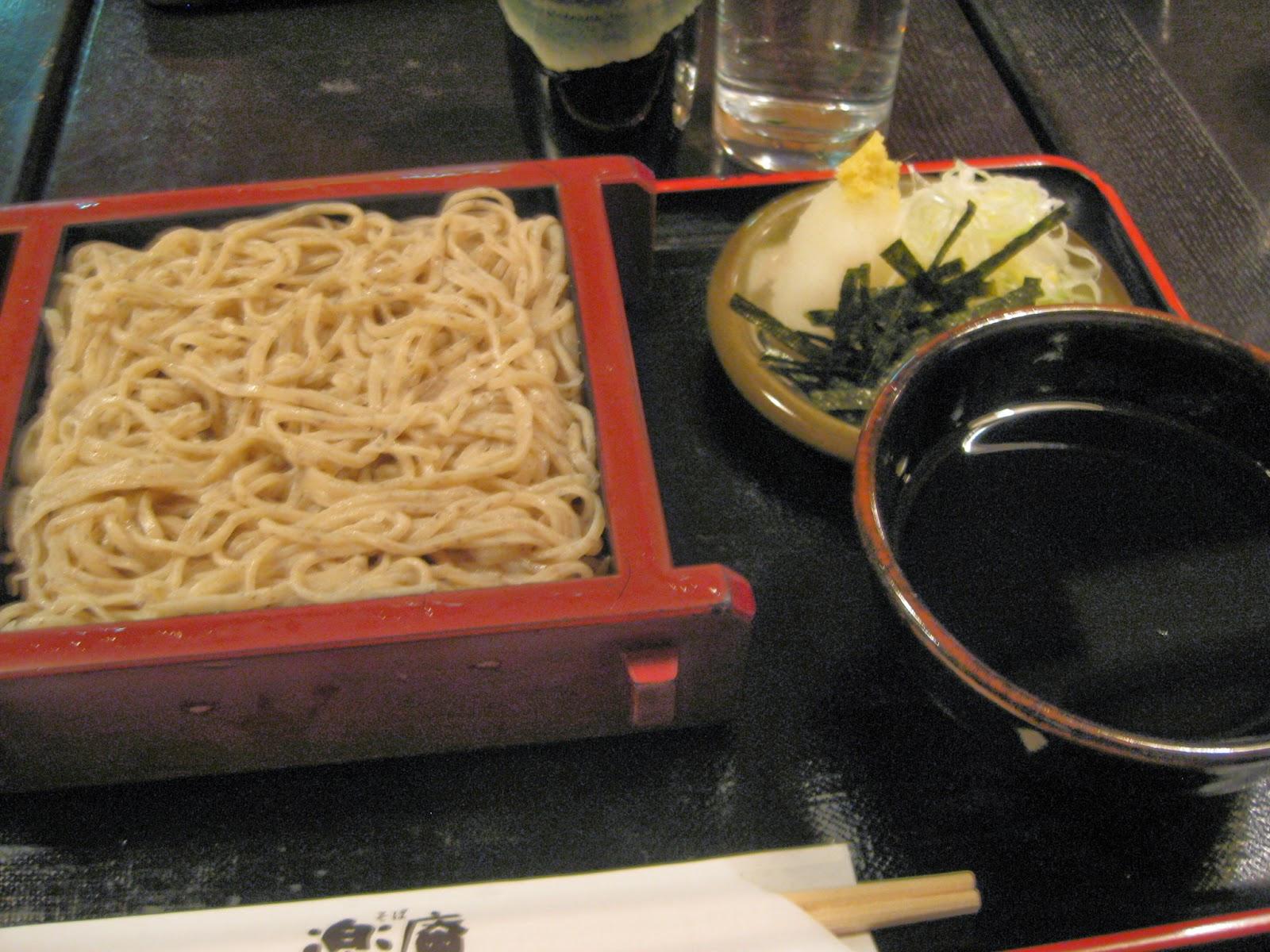 Tokyo - Soba noodles for dinner