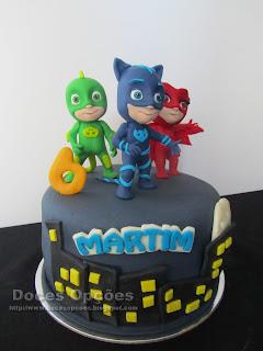 pj masks disney cake