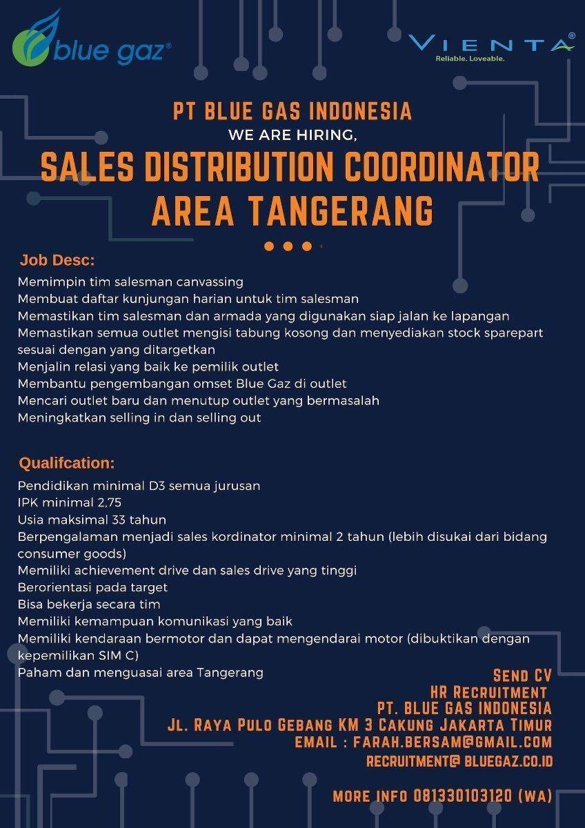 Lowongan Kerja PT. Blue Gas Indonesia Januari 2019