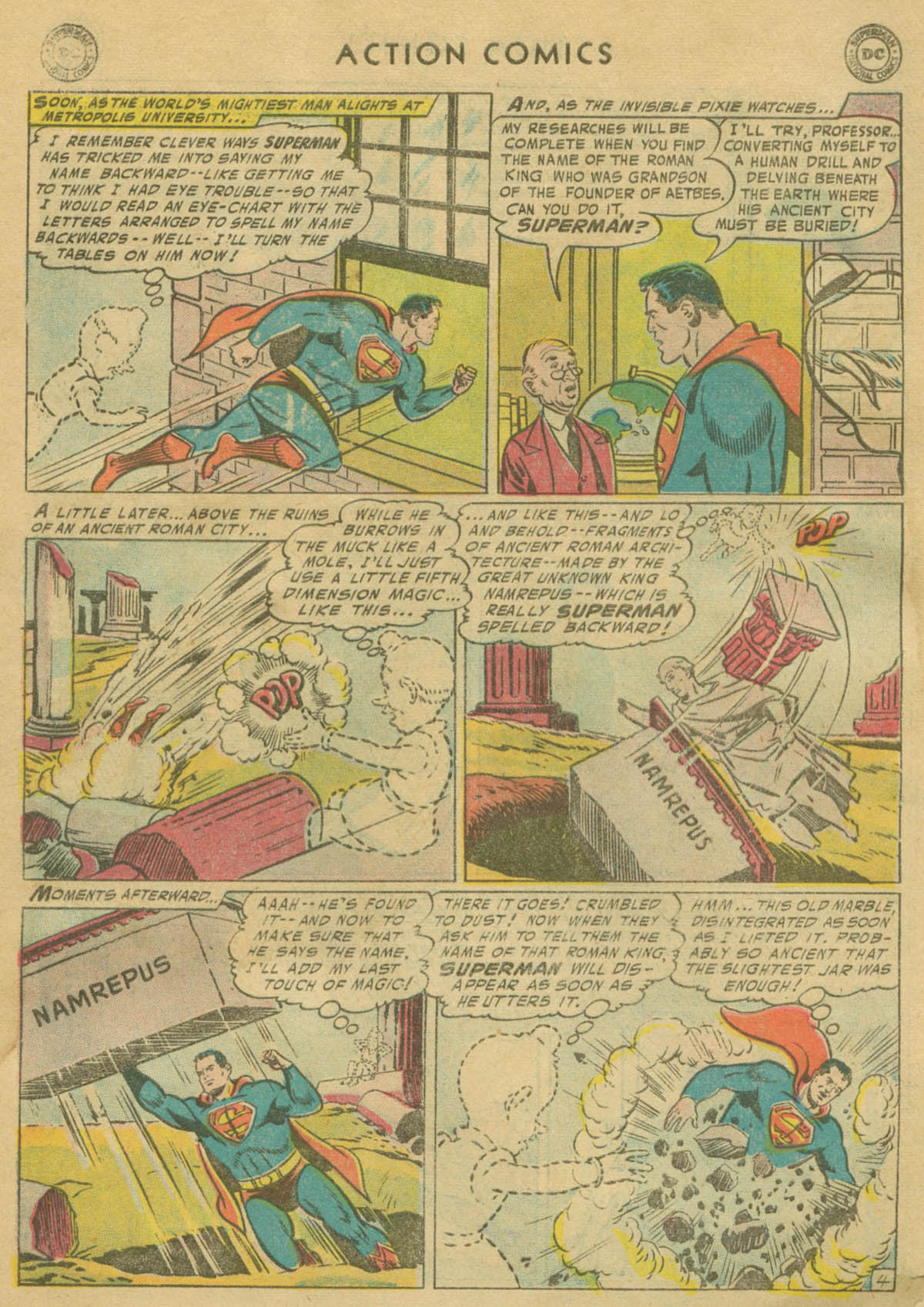 Read online Action Comics (1938) comic -  Issue #208 - 5
