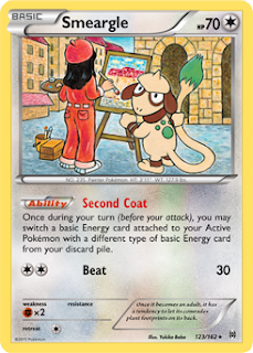 Smeargle BREAKthrough Pokemon Card
