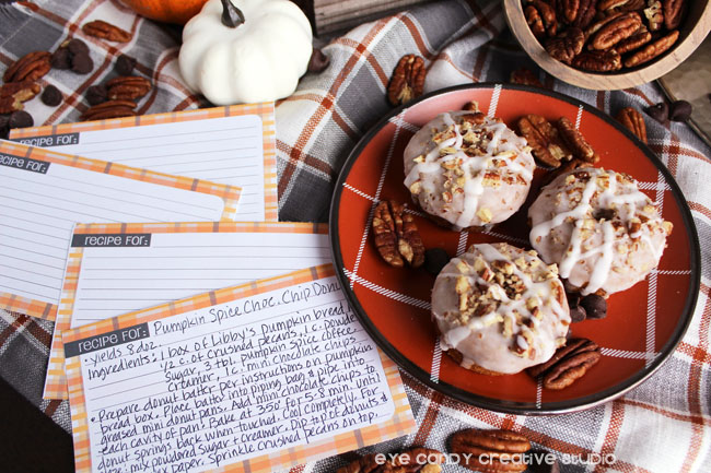 free recipe cards, plaid recipe cards, donut recipe, hostess gift idea