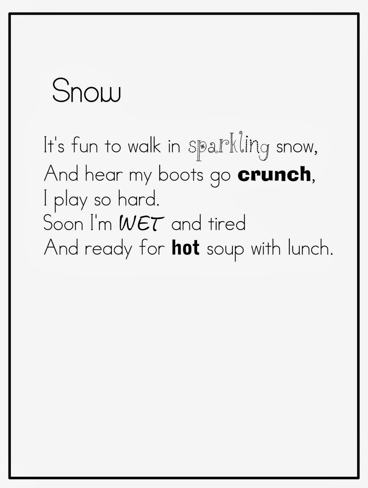 how to write a winter poem