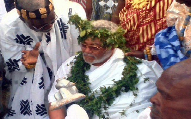 Rawlings enstooled peace Chief of Anlo State
