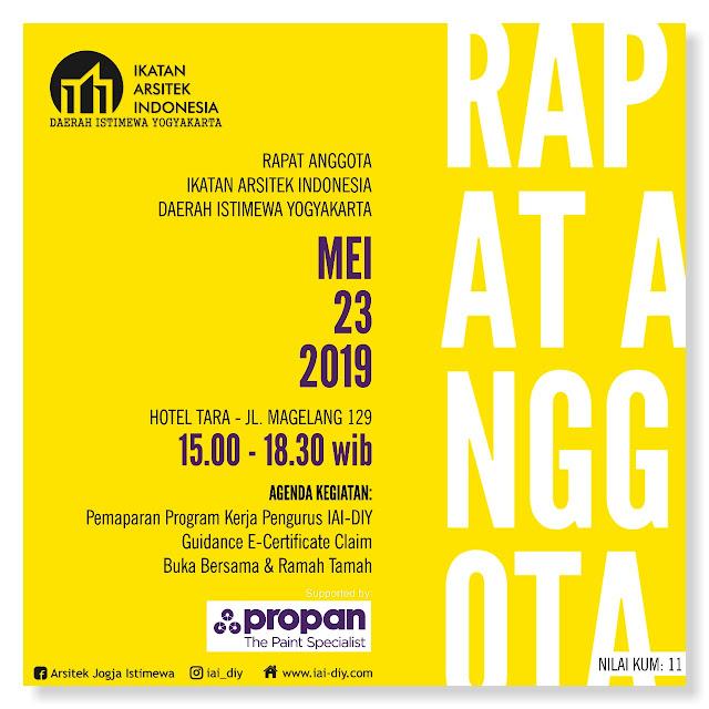 [INVITATION] RAPAT ANGGOTA IAI DIY - 23 MEI 2019