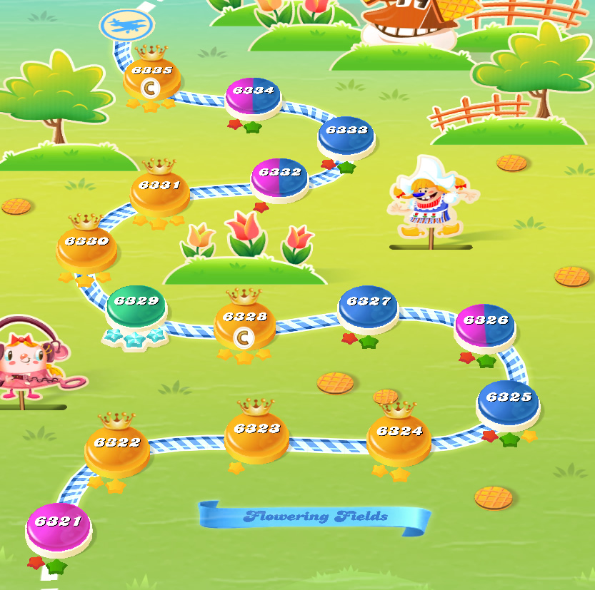 Candy Crush Saga level 6321-6335
