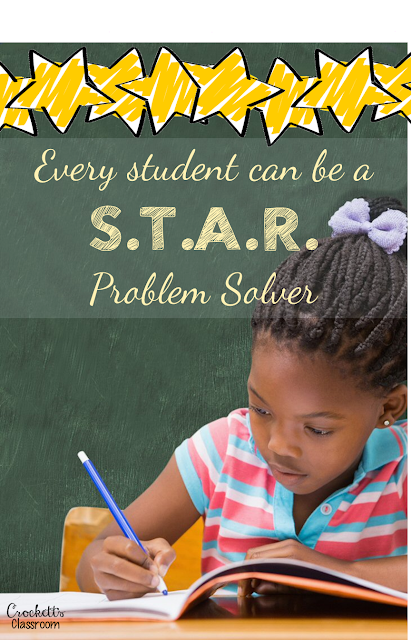 Every student can be a STAR math problem solver.  If you hate hearing the moans and groans every time your students have to solve word problems you need to read this blog post!  Find out how to help all your students master math word problem strategies and become STAR problem solvers!