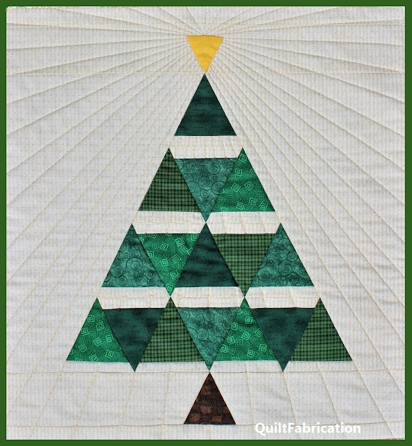 Yuletide Fir Christmas Tree wall hanging by QuiltFabrication