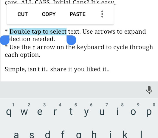 TIP OF THE DAY: WORKING WITH TEXT CASE IN ANDROID KEYBOARD