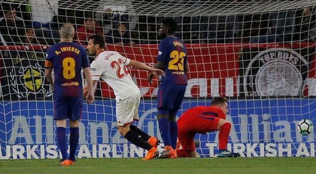 Messi Cetak Gol dan Gagalkan Kemenangan Sevilla atas Barcelona