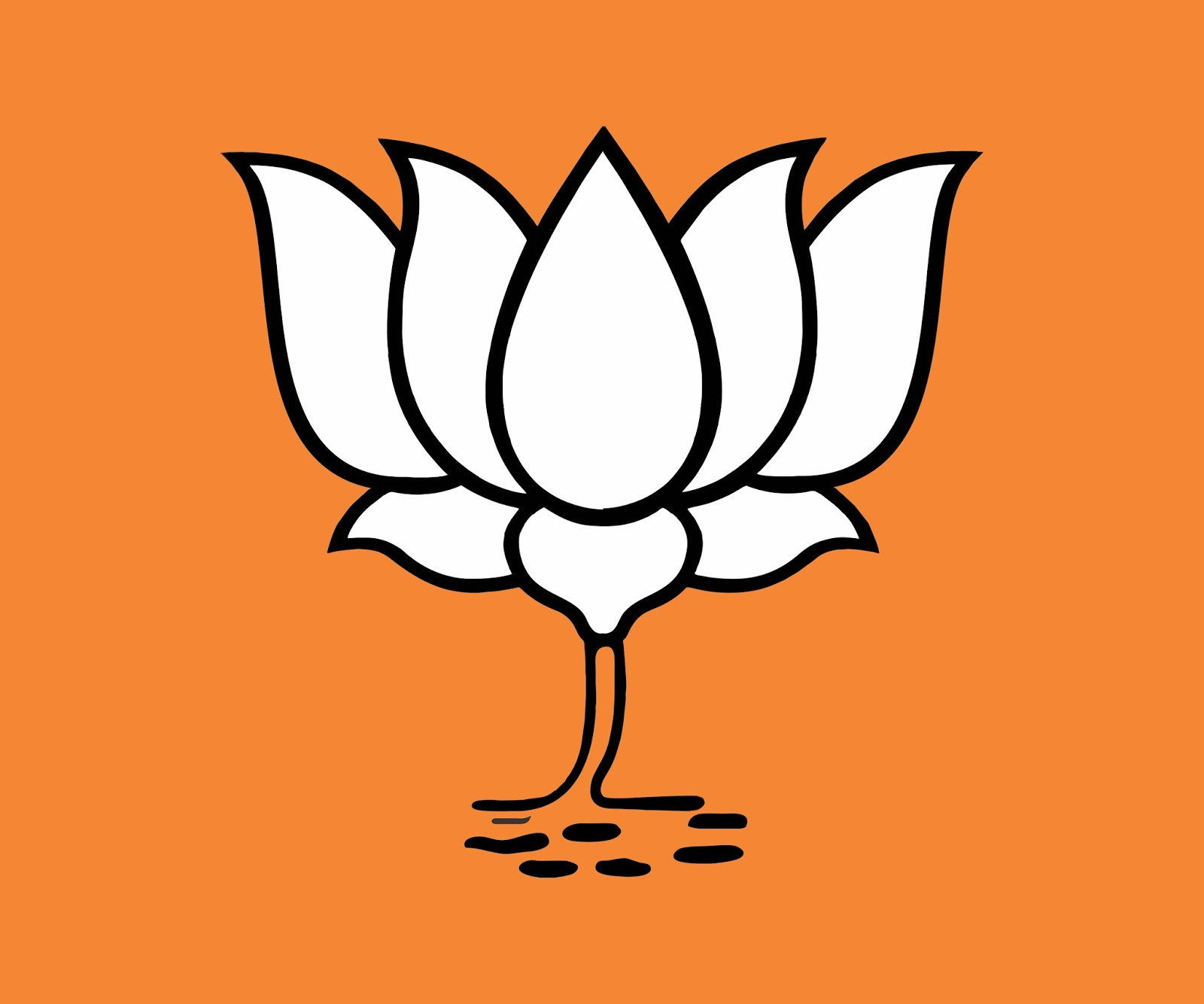 Bjp Kamal Lotus Symbol Freebek