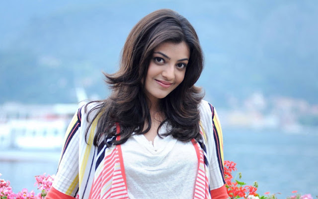 Kajal Agarwal on the sets of 'Khaidi No 150'