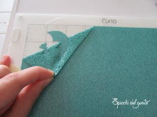 taglio pellicola termica glitter