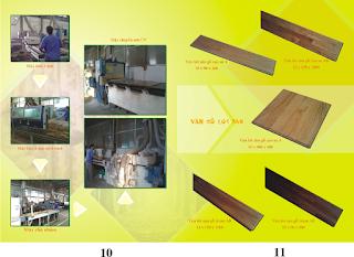 Sản xuất Sàn gỗ cao su - solid