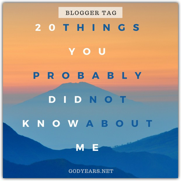 Going old-school once more with a 'tag post' where you get to know more about the blogger