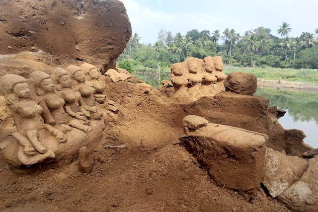 Kerala floods reveal site filled with ancient terracotta figures