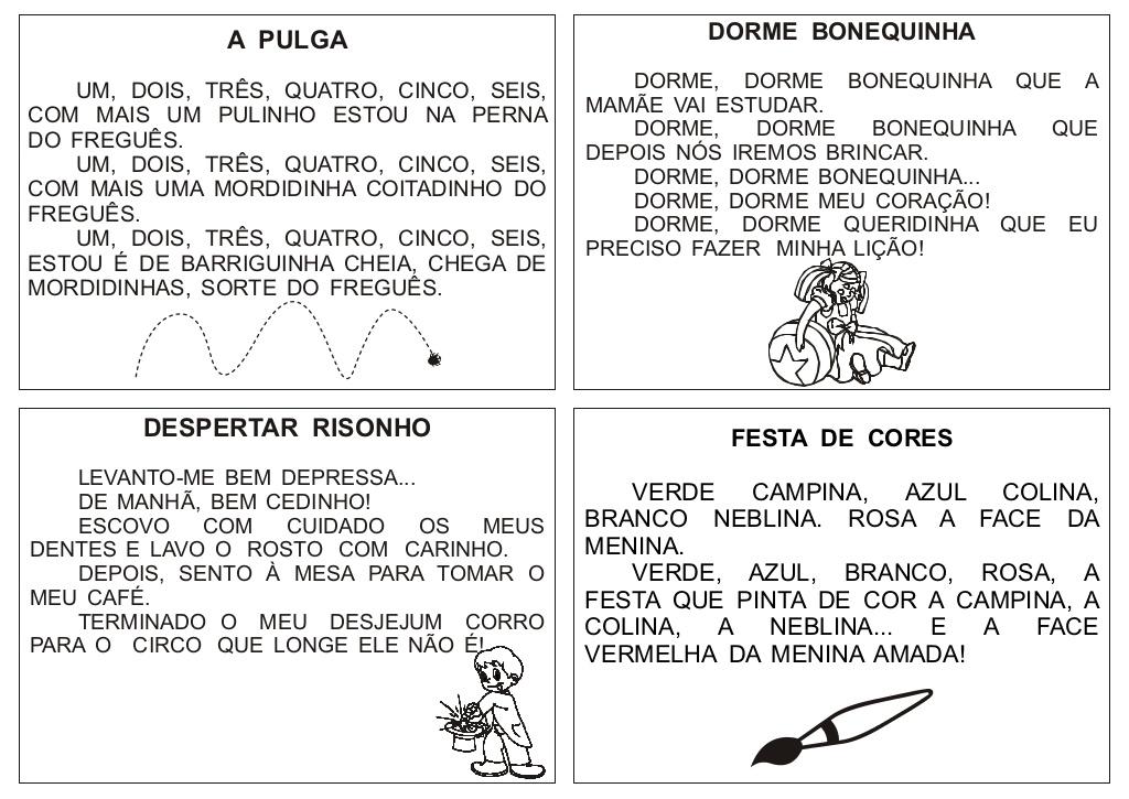 56 Textos Pequenos Para Imprimir So Escola