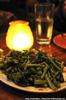 Puk Boong Fai Dang: Water Spinach with Garlic, Chilies, and Yellow Soybeans at Uncle Boons